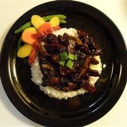 Mongolian beef w/spring onions