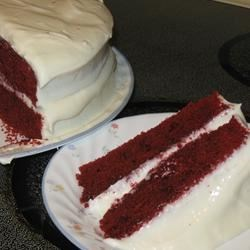 Photo of Reduced Fat and Cholesterol Red Velvet Cake by squeeziebrb