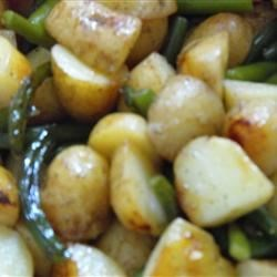 Barbequed Potato and Garlic Scape Packets Recipe