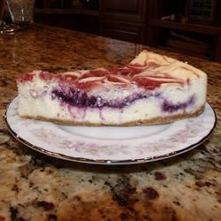 Red, White & Blueberry Cheesecake