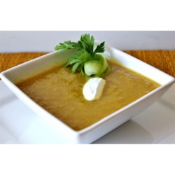 Curried Apple and Leek Soup
