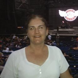 Karen at REO Speedwagon concert, 2010
