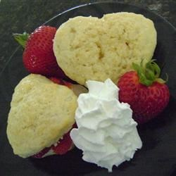 Heart-Shaped Strawberry Shortcakes Recipe