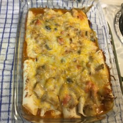 Crab and Mushroom Enchiladas