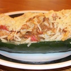 Mandy's Crab Stuffed Zucchini