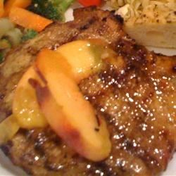 Pork Chops with a Riesling Peach Sauce Recipe