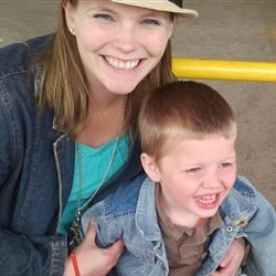Henry and Momma at the farmers market