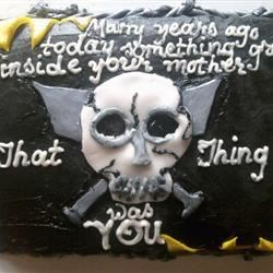 Song Lyrics on the cake: