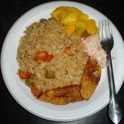 Panama CD4 Ditto/ Shrimps Fried Rice, Fried Plantain, Coldslaw and Mango Salad By Ditto