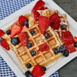 light and fluffy vegan waffles printer friendly
