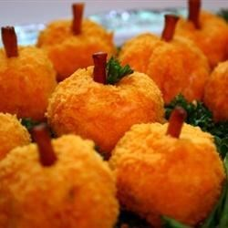 Photo of Mini Cheeseball Pumpkins with Caramelized Garlic by jowolf2