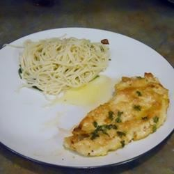 Chicken Francaise w/lemon pepper pasta