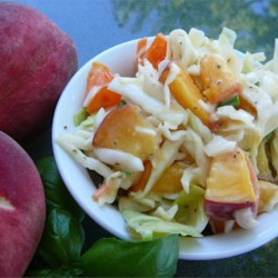 Thornehedge Peach Slaw Recipe