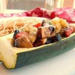 Mushroom Stuffed Zucchini