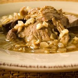 Mom's Italian Beef Barley Soup Recipe