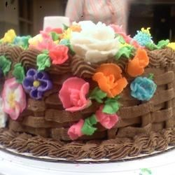 my basket cake with heavenly white cake