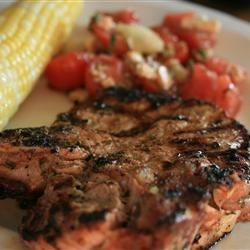 Basil-Garlic Grilled Pork Chops