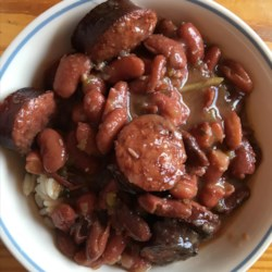 authentic no shortcuts louisiana red beans and rice printer