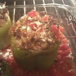 Stuffed Bell Peppers, Greek Style Recipe