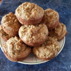 dairy and gluten free zucchini orange chocolate chip muffins