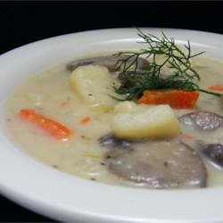 Russian Mushroom and Potato Soup Recipe