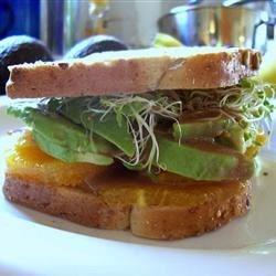 Avocado and Orange Sandwich | Preheated
