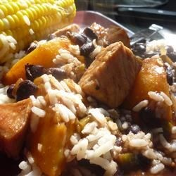 Photo of Pork with Peach and Black Bean Salsa by LOUTRE