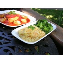Mashed Potato, Rutabaga, and Parsnip Casserole with Caramelized Onions Recipe