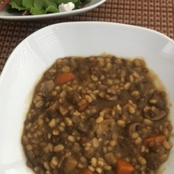 Barley, Lentil and Mushroom Soup