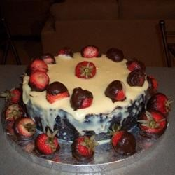 White Chocolate Cheesecake with White Chocolate Hennessey cognac sauce