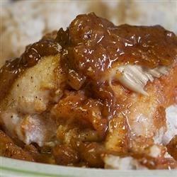 Photo of Papaya-Stuffed Chicken and Basmati Rice by Sola
