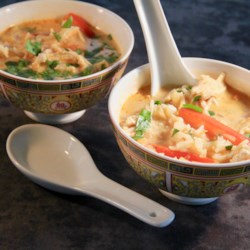 thai red curry chicken soup printer friendly