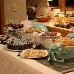 Catered desserts for jewelry party
