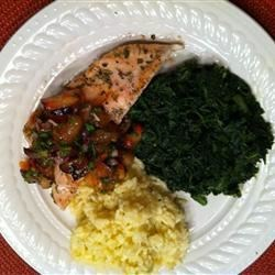 Photo of Chicken Breasts with Plum Salsa and Basmati Rice by DAMESTJERNELYS