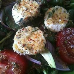 spinach salad with baked goat cheese photos