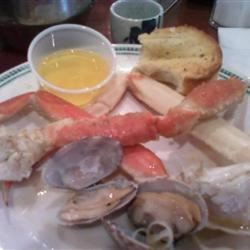 crab and clams