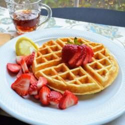 lemon ricotta cornmeal waffles printer friendly