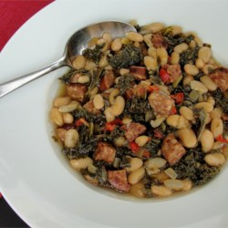 Spanish Style White Bean and Sausage Soup Recipe