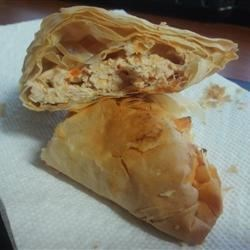 Buffalo Chicken Phyllo Wraps Recipe