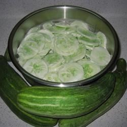 Creamed Cucumber Slices Recipe