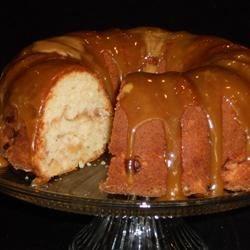 Apple Bundt Cake w/Caramel Frosting