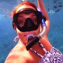 Chef Girl Olie Snorkeling in Hawaii