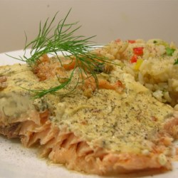 Salmon Fillets with Creamy Dill Recipe