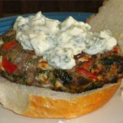 Loaded Greek Burgers Recipe