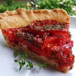Photo of Tarte aux Moutarde (French Tomato and Mustard Pie) by Snackybits