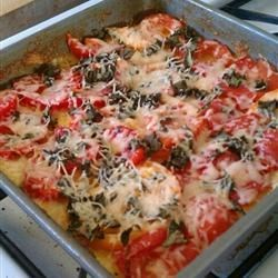 Baked Polenta with Fresh Tomatoes and Parmesan Recipe