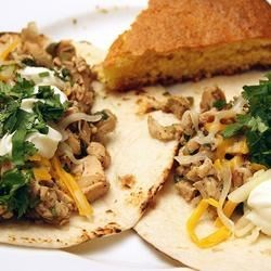 Lime Chicken Soft Tacos with Fresh Cilantro