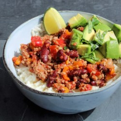mexican turkey and rice bowl printer friendly