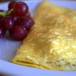Turkey Filled Omelette Recipe