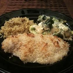 Baked Salmon with Coconut Crust Recipe